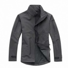 ESDY Men's Fleece Warm Wind Waterproof Jacket - Grey (Size XL)