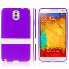 ENKAY Protective TPU Back Case w/ Holder Stand for Samsung Galaxy Note 3 N9000 - Purple