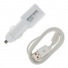 EASYWAY 1109-U 2-in-1 Car Charger + USB to Micro USB Data / Charging Cable for Mobile Phone