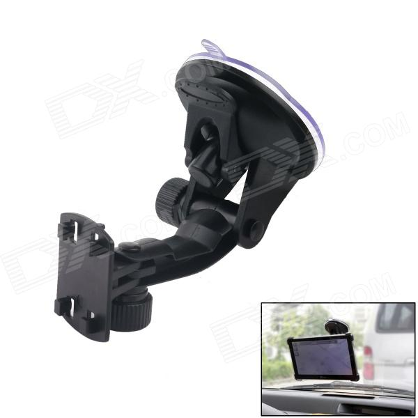 90 Degree Rotation Car Suction Cup Holder Mount for Iphone / GPS / MP4 + More - Black h08 360 rotation 4 port suction cup holder w silicone back clip for iphone 4 4s 5 ipad mini ipod