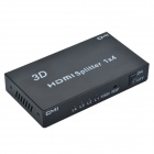 CMI 1-to-4 Full HD1080P w/ Deep Color HD Audio 3D HDMI Splitter - Black (1-In-4-Out)