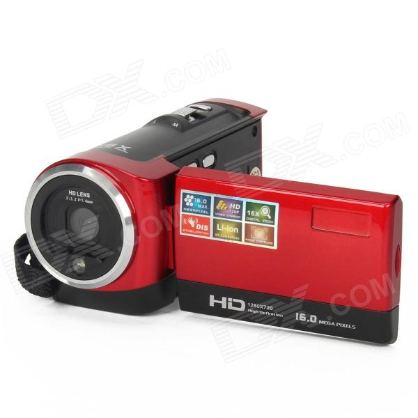 DV-777-B 2.7 TFT LCD Max 16.0 MP 16x digitale zoom Video Camcorder - Rood