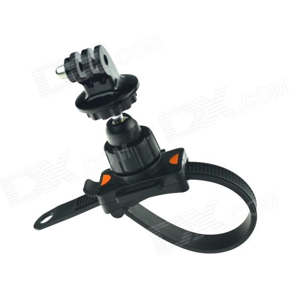 HighPro Bicycle Motorcycle Handlebar Zip-Tie Strap Mount for Gopro Hero 4/ / Hero2 / Hero3 - Black handlebar mount bicycle