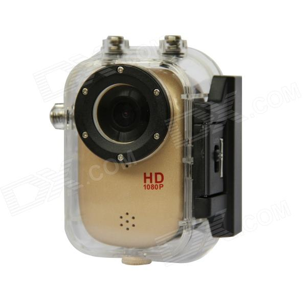 sj1000 5.0 MP CMOS 1080P HD 140 Degree 30m Waterproof Sports Cycling Diving DVR w/ HDMI, TF - Golden ноутбук dell vostro 3558 3558 1993 3558 1993