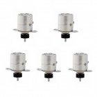 Jtron Mini 8mm Two-Phase Four-Wire Stepper Motor - Silver (5 PCS)