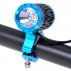 NEW-H11 Cree XM-L U2 500lm 3-Mode White Bicycle Light - Black + Blue (4 x 18650)