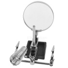 DIY Tool Helping Hand Magnifier w/ Soldering Stand for Soldering - Silver