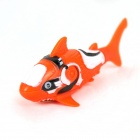 ROBO FISH Shark Design elektronischer Fisch Toy - Orange + Weiß (2 x LR44)