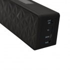 N16 USB Rechargeable Bluetooth V3.0 Brass Speaker w/ Handsfree Function /3.5mm for Iphone 5S - Black