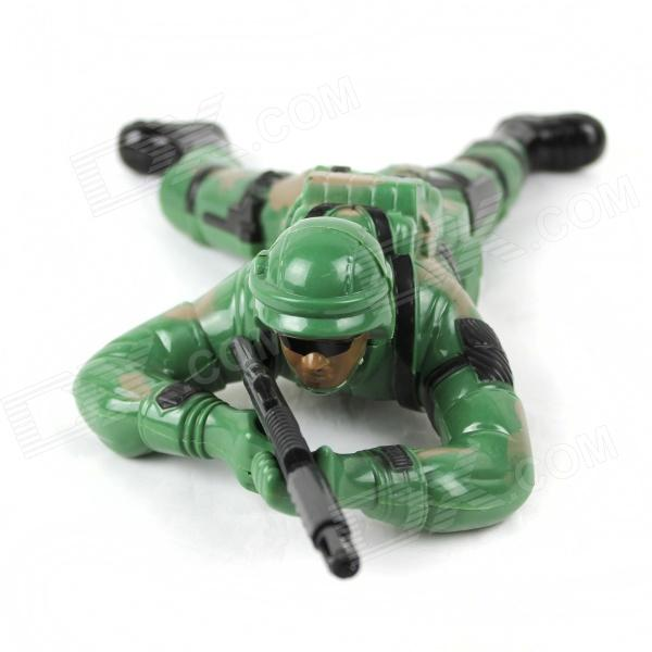 Enfriar Plastic Jungle Fighters Juguete - ejército verde (2 x AA)