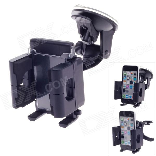 все цены на Universal 360 Degree Rotation Air Outlet Car Holder Bracket for Smartphone - Black