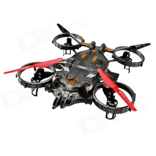 YD AT-788 Avatar Four Shaft 2.4GHz Six-Channel Remote Control Aircraft - Black + Red + Yellow yd 712 four shaft 2 4ghz 4 channel remote control aircraft toy silver grey