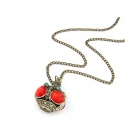 Fashionable Dominate Tower Pattern Zinc Alloy Women's Necklace - Red + Bronze