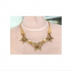 Vntage Butterfly Style collier femmes - Bronze
