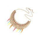 Fashion Crescent Shape Collar Necklace - Multicolored