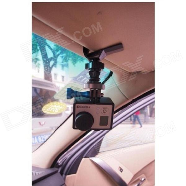 360 degree rotate car sun visor mount adapter for gopro hero black free shipping dealextreme. Black Bedroom Furniture Sets. Home Design Ideas