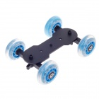 Desktop camera rail car tabela dolly slider track mudo para canon 5D2 / 7D / 60D - azul claro + preto