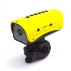 Bike Mount 1.3MP Wide Angle Sports DVR Camcorder w/ TF / FM / Speaker / Flashlight