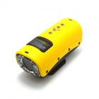 S20 720P Mini Sports DV 5.0MP CMOS Water Resistant Camera Camcorder - Yellow
