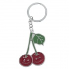 Stylish Cherry Style Zinc Alloy Keychain - Silver + Red + Green