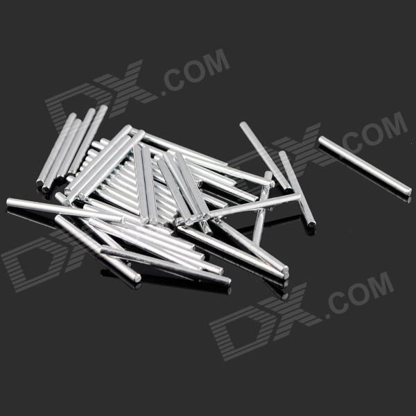 Rectangular 20mm Long Iron Axles - Silver (40PCS)