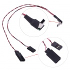 3-in-1 Mini Video Cable / USB Adapter Cable / AV Output Cable for Gopro3 FPV - Black - Red - White