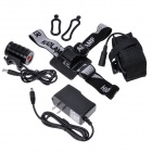 NEW-H13  XM-L U2 500lm 3-Mode White Bicycle Headlamp - Black (4 x 18650)