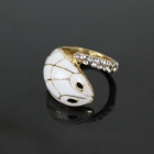 Creative Snake Style Crystal Ring - Golden + White
