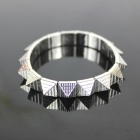 Punk Style Spiked Elastic Bracelet - Silver