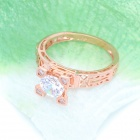 KCCHSTAR 18K Gold Plating Eiffel Tower Style Ring - Rose Golden (US Size-8)