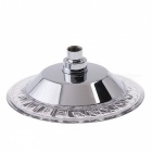8 inch ABS 8-LED RGB Color Changing Chrome Contemporary Round top Shower Head - Silver