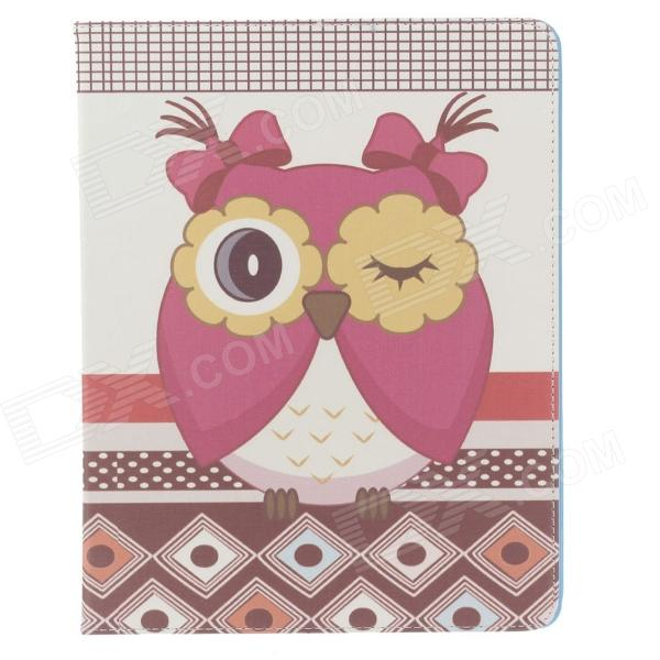 все цены на Stylish Owl Pattern Protective PU Leather Case Cover Stand for Ipad 2 / 3 / 4 - Multicolored онлайн