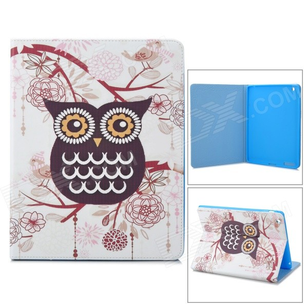 все цены на Stylish Owl Pattern Protective PU Leather Case Cover Stand for Ipad 2 / 3 / 4 - Black+ White+ Yellow онлайн