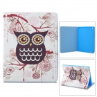 Stylish Owl Pattern Protective PU Leather Case Cover Stand for Ipad 2 / 3 / 4 - Black+ White+ Yellow