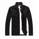 X031310 Pánské límec Single Breasted Suit Jacket - Black (XL)