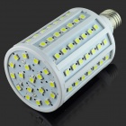 E27 15W 1500lm 6500K 102 x SMD 5050 LED White Light Bulb Lamp - Weiß + Silber (AC 220 ~ 240V)