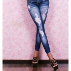 Dear-Lover 7858-1 Sexy Jeans Legging Pants - Blue(Free Size)