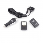 eJ YX-09 3-in-1 Wireless Handle Car Charger + USB Ladekabel + Batterie-Set für Xbox 360 - Schwarz