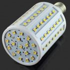 E27 15W 1500lm 3000K 102 x SMD 5050 LED Warm White Light Lamp - White + Silver (AC 220~240V)