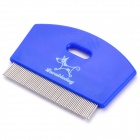 Professional Removes Lice Flea Comb Stainless Steel Toothed Grooming Comb for Pets - Deep Blue