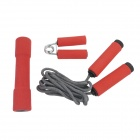 3-in-1 Jump Rope + Dumbbell + Grip Exerciser Sports Exercise Set - Red