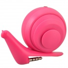 Face Idea Ld04 Cute Mini Snail Style USB Rechargeable Speaker - Deep Pink (3.5mm Plug)