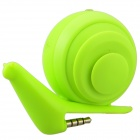 Face Idea Ld04 Cute Mini Snail Style USB Rechargeable Speaker - Fluorescent Green (3.5mm Plug)