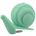 Face Idea Ld04 Cute Mini Snail Style USB Rechargeable Speaker - Green (3.5mm Plug)