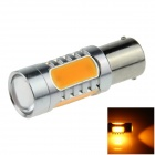 1156 / BA15S / P21W 7.5W 500lm 635nm 5-LED Orange Car Steering Light / Tail Lamp - (12~24V)