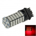 3157/3156 6W 600lm 700nm 120 x 3528 SMD LED Red Car Steering / freno / Copia de seguridad / lámpara de cola - (12V)