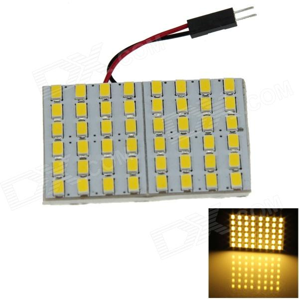T10 BA9S Festoon 31mm~42mm 5W 600lm 48 x SMD 5630 LED Warm White Car Interior Dome Light - (12V) 2pcs pair cob led chips c5w canbus 31mm 36mm 39mm 42mm 44mm car styling interior festoon dome reading 12v dc white