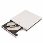 Slim Portable USB 3.0 DVD RW External Optical Drive - White