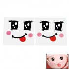Pregnant Woman Belly Stickers - Black + White + Red (2 PCS)