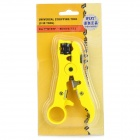 WLXY WL-505 ABS + Stainless Steel Coaxial / Flat / Twisted Cables Wire Stripping Pliers - Yellow